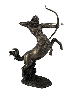 Rearing Centaur Shooting Arrow Bronze Statue Fantasy Mythology Accent