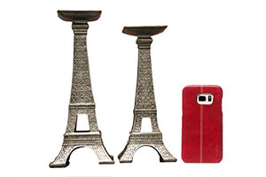 French Eiffel Tower Candle Holders Modern Candle holder Set 2 Home Decor Paris Home Decor Accent