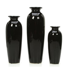 Set of 3 Black Ceramic Vases in Box. Ideal Gift Art Vases Art Vases Home Decor Accent