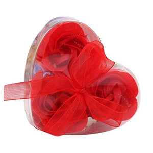 Petal Bath Body Soap Scented Rose Flower Red Heart Box Bouquet Pamper Home Decor Vase