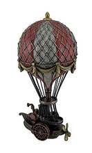 Hand Painted Steampunk Cast  Resin Hot Air Balloon Fantasy Art Accent