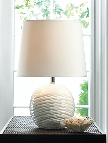 Lamps Reading Desk Lamp Student Decor Unique Contemporary round white ceramic base textured Sale