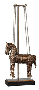 "Large Bronze 34"" Stedman Horse Copper Suspended Sculpture Home Accent"