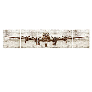 YOSEE Unframed Canvas Wall Art Huge Size Cargo Airplane Picture Printed DIY Home Decor Tube Package 5 Pcs 20x20 inches