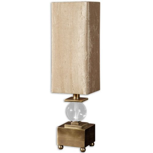 Uttermost Ilaria Lamp Coffee Bronze Plated Metal Crystal Ball Square Mount Accent Home Decor