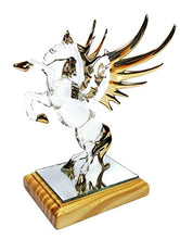 NaCraftTH Pegasus Winged Horse Handmade Figure Glass Blow Gold Artwork Crafted Figurine Home Decor Fantasy Gift Collectible