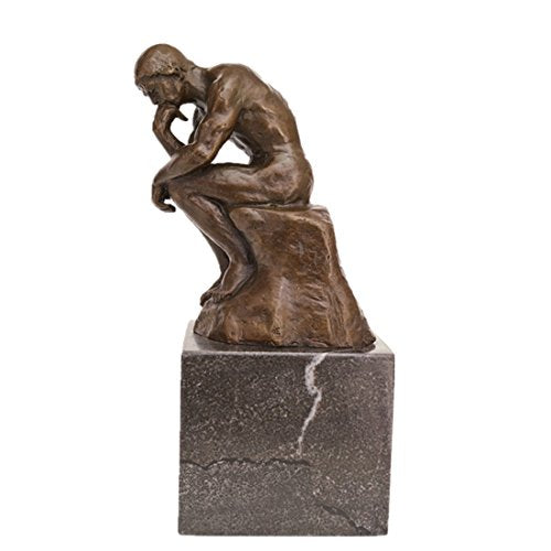 Rodin's Classical  Bronze Statue The Thinker Home Decor Art Accent