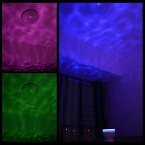 Ocean Wave Night Light Music Player Multicolor Led bulbs Projection Lamp Calm Home Accent