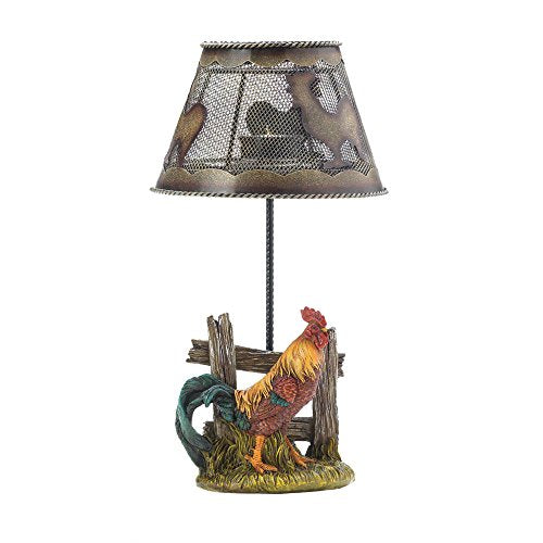 Country Rooster Candle Lamp 12