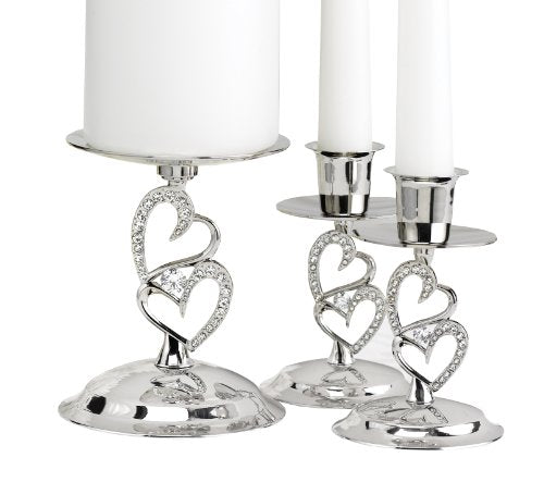Wedding Accessories Nickel-Plates Sparkling Heart Love Candle Stands Home Decor Accents