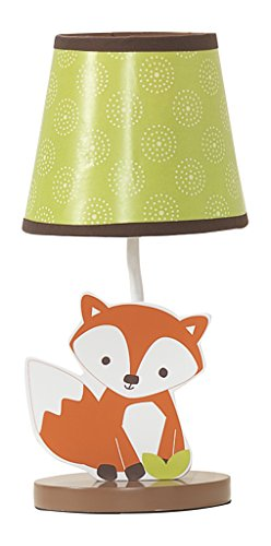 Night Light Wildlife Raccoon Friendly Forest Woodland Lamp/Shade Green/Brown Home Decor Accent