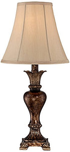 "Tuscan Bronze Urn Table Lamp 21""H Traditional Cast Resin Bell Shade Home Decor Accent"