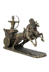 Egyptian Ramses the Great Shooting Arrow Chariot Pharaoh Accent Home