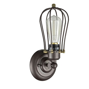 Retro Edison Vintage Style Industrial Oil Rubbed Bronze Wire Cage Wall Sconce Home Decor Accent