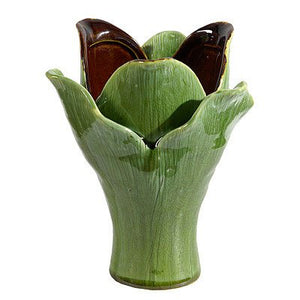 Glazed Ceramic Leaves  Petals Shape  Adds Texture and Fullness  Vase Home Decor Accent