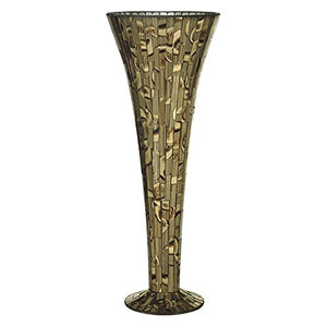 "Dale Tiffany Style Decorative Vase 20"" Tall Art Glass Vase Focal Statement  Home Decor Accent"