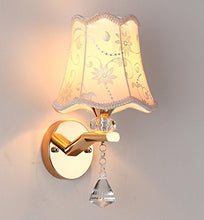 Vintage Contemporary Pretty Wall Sconces Light Lamp Fixtures Patterned Cloth shade Home Decor Accent