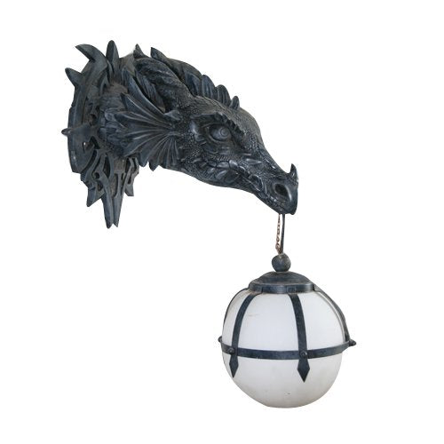 Toscano Marsh Gate Castle Dragon Electric Lamp Wall Sconce Accent