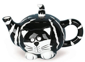 Chester The Cat Teapot Purrrrr-fect Black White For Tea Parties Dining Kitchen Decor Accent