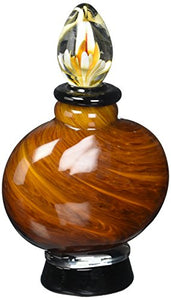 Dale Tiffany San Felipe Perfume Bottle Vibrant Red Color Hand Blown Art Glass Home Decor Accent