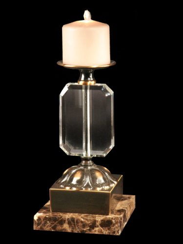 Dale Tiffany Florence Decorative Candle Holder Antique Brass Finish Modern Home Accent Sale