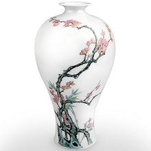 Jingdezhen Traditional Chinese Floral Trees Nature Ceramic Vase Accent