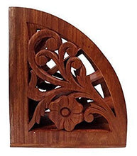 Wooden Carved Stand TV Remote Holder Stand Multi Organizer Device Home Accent