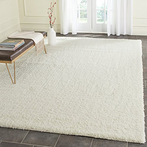 Safavieh Laguna Plush Shag Collection  Ivory Area Rug 100% Poly Modern Contemporary Easy Care Uniquer Superior Quality Home Decor Accent