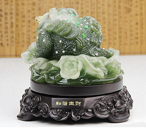 Money Frog Statue 10 Lucky  Coins Feng Shui  Attract Wealth Luck ,Feng Shui Home Decor Accent