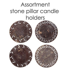 Set Assorted Soapstone Pillar Candle Plate Candle Holder Decorative Embossed Edge Home Accent