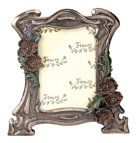 Summit Art Nouveau Floral Poppy Vines Picture Frame Home Decor Accent