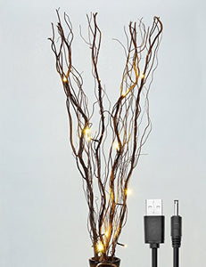 Branches Willows Twig Modern Traditional Natural Twinkle Battery Lighted Lamp Branch Home Accent
