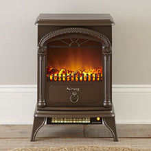 "Hamilton Portable Free Standing Electric Heater Fireplace Stove 22""H Venetian Bronze Home Accent"