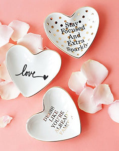 Original Ceramic Heart Shape Ring Soap Candy Dish Holder  Dish Trinket Hostess Home Accent