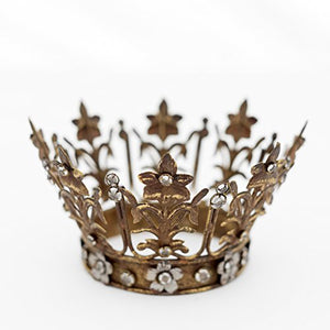 Silver Tone Finish  Crown Little Princess Play Accent Center Piece Cake Topper Home Decor Accent