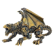 Steampunk Gothic Gear Dragon Statue Gears Bronze Fantasy Accent