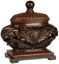 Weldona Decor Brow Bowl Floral carvings Lid Storage Jewelry Box Rings Home Decor Accent Sale