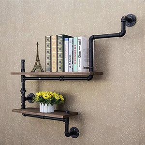 Industrial Pipes Reclaimed Wood Shelves Steampunk Rustic Urban  Accent