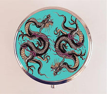 Dragon Tattoo Design Pill Box Pill box Case Holder Trinket Box Sectioned Home Accent