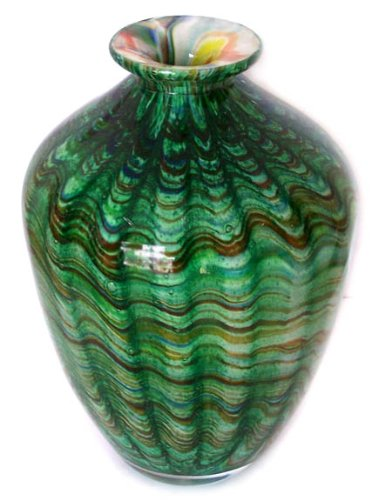 Murano Art Glass Vase with Certificate A37 Statement Focal Point Home Decor Accent authentic