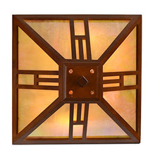 "Tiffany Style 15"" Lamp Wood Base Table Amber Panels Forms Mission 15""H Home Decor Accent"