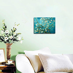Van Gogh  Almond Blossom Modern Framed Floral Stretched Canvas Ready to Hang Wall Art
