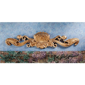 Toscano Design Water Lily Architectural Wall Art Antique Finish Accent