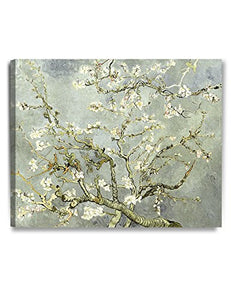 "DecorArts- Silver Almond Blossom Tree, Vincent Van Gogh Art Reproduction, Giclee Print on 100% cotton Canvas for Home Decor and Wall Decor 24x30""x1.5"""