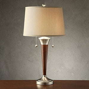 Wood Brushed Nickel Finish Accent Lamp mid-century modern contemporary  Home Decor Accent Sale