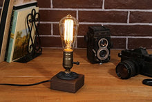Retro 1930  Vintage Edison Industrial Lamp Wood Base Table Lamp Home Decor Accent