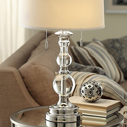 Crystal Mercury Base Crystal Cleat Accent Lamp nickel finish Base Home Decor Accent Modern Sale