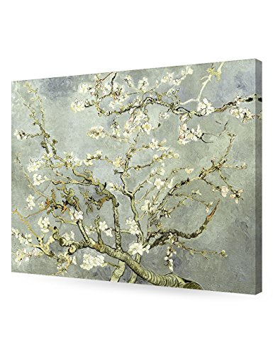 DecorArts- Silver Almond Blossom Tree, Vincent Van Gogh Art Reproduction, Giclee Print on 100% cotton Canvas for Home Decor and Wall Decor 24x30