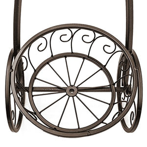 Tricycle Plant Stand Flower Pot Cart Parisian  Holder  Home, Garden, Patio Bronze Home Accent