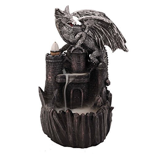 Dragon Castle Incense Holder Burner  Cones Display  Gothic Home Accent